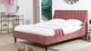 Aspen Upholstered Platform Bed, Queen, Ash Rose
