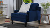 Enzo Lawson Accent Chair, Navy Blue