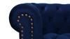 "Alto 88"" Tufted Chesterfield Sofa, Navy Blue"