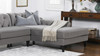 Alexandra Tufted Right Sectional Sofa, Opal Grey
