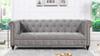 "Alto 88"" Tufted Chesterfield Sofa, Opal Grey"
