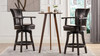 "Williams 26"" Swivel Counter Height Bar Stool, Vintage Brown Faux Leather"