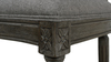 "Bella 26"" Upholstered Round Back Counter Height Bar Stool, Dark Heathered Grey Linen"