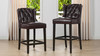 """Richmond 26"""" Armless Wingback Tufted Counter Height Bar Stool, Vintage Brown Faux Leather"""