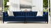 """Jack 118"""" Modern Tuxedo Tufted Long Modular Sofa, Navy Blue Velvet"""