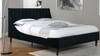 Aspen Upholstered Platform Bed, Queen, Anthracite Black