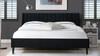 Aspen Upholstered Platform Bed, King, Anthracite Black