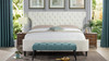 Robyn Tufted Curved Back Headboard Panel Bed