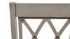 Dauphin X-Back Upholstered Dining Arm Chair, Cream White & Cashmere Gray