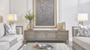 """Dauphin 71"""" TV Stand Storage Console Table, Grey Cashmere"""