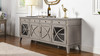 """Dauphin 71"""" TV Stand Storage Display Console Table, Grey Cashmere"""
