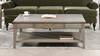 "Dauphin 50"" Rectangular Storage Coffee Table, Grey Cashmere"