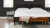 Aspen Upholstered Platform Bed, King, Deep Brown