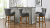"Blake Modern 26"" Counter-Height Barstool with Armrests, Classic Grey"
