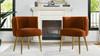 Misty Barrel Accent Chair, Burnt Orange