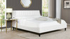 Aspen Upholstered Platform Bed, King, Cloud White