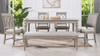 "Dauphin 71"" Rectangular 6-Seater Dining Table, Grey Cashmere"
