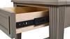 Dauphin Storage Shelf Side Table, Grey Cashmere