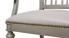 Dauphin Geometric Upholstered Dining Arm Chair, Soft Gray & Cashmere Gray