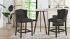 "Suzie Shelter Wingback 26"" Counter-Height Armless Barstool, Charcoal Brown"