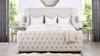 Brooklyn Tufted Bed, King, Light Beige
