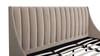 Aspen Upholstered Platform Bed, King, Mink Beige