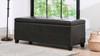 Ryan Upholstered Storage Accent Bench, Vintage Black Brown