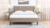 Aspen Upholstered Platform Bed, Queen, Mink Beige