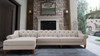 Alexandra Tufted Left Sectional Sofa, Bone White