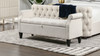 Jacqueline Flip Top Tufted Roll Arm Storage Bench, Natural White