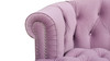 La Rosa Tufted Accent Chair, Lavender