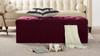 Arlo Tufted Flip Top Storage Bench, Burgundy