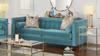 Jack Tuxedo Sofa, Arctic Blue