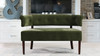 Jared Tufted Bench Settee, Olive Green