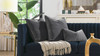 """Plume 24"""" Square Feather Down Throw Pillow, Set of 2, Storm Gray"""