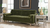 "Nicholas 84.5"" Mid-Century Modern Sofa, Olive Green"