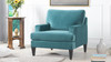 Enzo Lawson Accent Chair, Arctic Blue