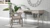 "Paparazzi 55"" 3-Drawer Wood Home Office Desk, White Oak Veneer & Birchwood"