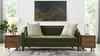 Annette Modern Tight Back Sofa, Olive Green