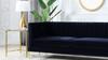 """Riviera 84"""" Channel Tufted Modern Tuxedo Sofa, Dark Navy Blue Velvet"""