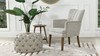 Ezra Upholstered Accent Arm Chair, Oatmeal Gray Chenille