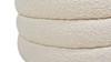 "Fuji 19"" Oversized Bouclé Round Storage Ottoman, Ivory White"