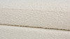 "Fuji 44"" Upholstered Bouclé Oval Storage Bench, Ivory White"