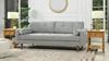 """Nicholas 84.5"""" Mid-Century Modern Sofa, Silver Grey"""