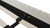 Aspen Vertical Tufted Headboard Platform Bed Set, King,  Flax White & Beige