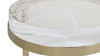 Dendros Live Edge Mimic Round Side Table, Gold & Acrylic