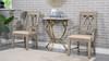 """Athens 30"""" Half Moon Wall Console Table, White & Gold"""
