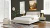 Aspen Vertical Tufted Modern Headboard Platform Bed Set, Queen, French Beige
