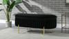 Chloe Modern Glam Storage Bench, Anthracite Black