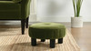 """Riley 16"""" Round Footstool Ottoman, Olive Green"""
